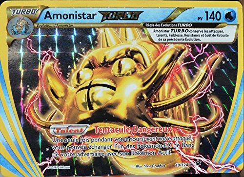 carte Pokémon 19/124 Amonistar Turbo 140 PV XY - Impact des Destins