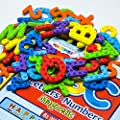 Magtimes Magnetic Letters and Numbers, ABC Alphabet Magnets for Kids Gift Set-82PCS