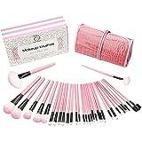 Pennelli Make Up Start Makers 32 pezzi Professionale Pennelli Cosmetici Spazzola Pennello Fondotinta con Custodia in Pelle Ef