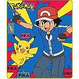 Pokemon–Manta de–Manta/Manta Polar/Auto de–diseño: Pikachu + Ash–120x 140cm–Colcha