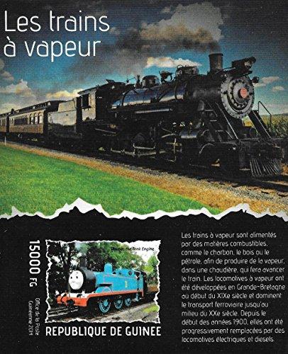 Briefmarken für Sammler - Dampf-Züge mit Thomas die kleine Lokomotive MNH Imperforate Block / Guinea / 2014 (Guinea Block)