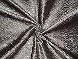 Seide Brokat Stahl Silber Grau Farbe 111,8cm Zoll