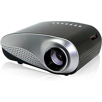 Excelvan Mini Proiettore LCD LED Videoproiettore 480x320p Multimediale AV / USB / VGA / HDMI / SD Home Theater per USB DVD PC (Nero)