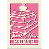 Thank You Card Personalised Thank You Teacher Card Nursery Teacher Thank You Gift Personalised Teachers Gifts End of Year Sch