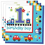 Amscan 33 cm, All Aboard Birthday Servietten