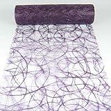 1m Sizoweb® Original Tischband Tischläufer Tischdeko Faserseide 30cm, Farbe:lila