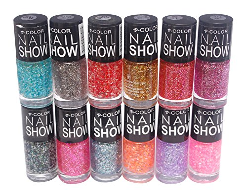 V-Color Nail Show Polish Set of 12 Pcs. (Multicolor Set No.8)