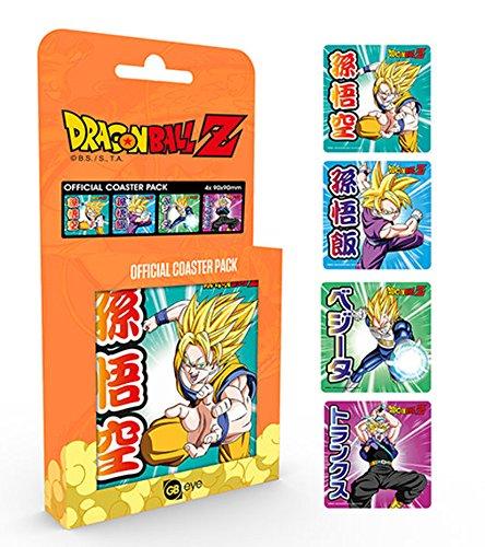 Dragon Ball Z Mix Set-Set di sottobicchieri da 10x 10cm in confezione regalo, Coaster-4pezzi