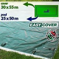 Telo di copertura invernale per piscina 25 X 50 mt predisposto per tubolari