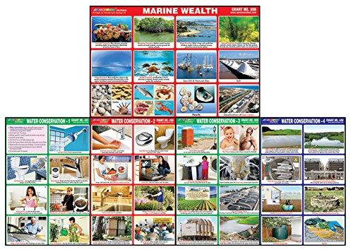 Spectrum Marine Reichtum & Wasser Erhaltung Pädagogische Gumming Diagramme 25 Pcs Marine Charts
