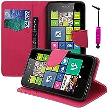 Funda carcasa cartera soporte Video libro tapa piel sintética efecto tejido para Nokia Lumia 630/635/638