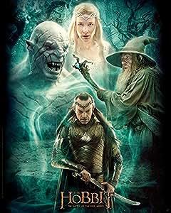 Poster affiche The Hobbit Film 3 Elrond, Galadriel, Gandalf et Azog
