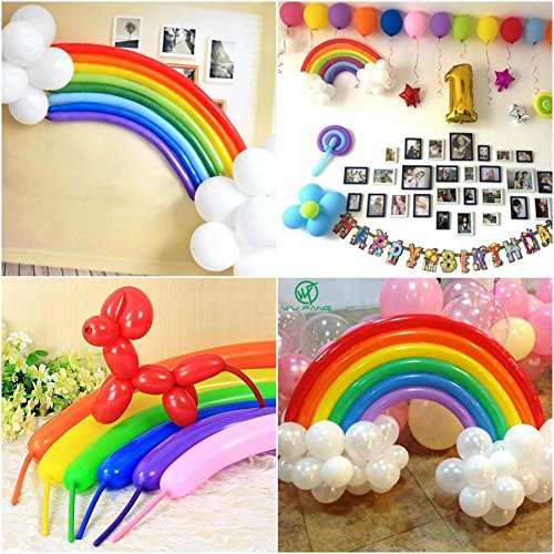 (25 Pcs Ballon DIY Luftballon Deko Regenbogen Ballon Kindergeburtstag Geburtstag Unique Party Supplies Rainbow Ballon Set)