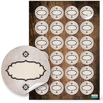 48 st ck runde haushaltsetiketten blanko aufkleber etiketten zum beschriften 4 cm oval beige. Black Bedroom Furniture Sets. Home Design Ideas