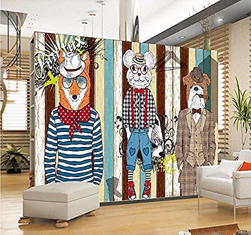 Wallpaper mural Tapete Tapete 3D Mode Trend Abstrakt Tier Kostüm Wandbild Shopping Center Dekoration Hintergrund Tapete Tapete , 450x300cm (Unsere Stadt Kostüm Designs)