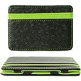 XCSOURCE Portafoglio Magico in simili cuoio - magic wallet Credit Card Holder - porta moneta --Verde