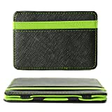 XCSOURCE Portafoglio Magico in simili cuoio - magic wallet Credit Card Holder - porta moneta --Verde
