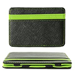 Idea Regalo - XCSOURCE Portafoglio Magico in simili cuoio - magic wallet Credit Card Holder - porta moneta -Verde