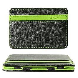 XCSOURCE Portafoglio Magico in simili cuoio – magic wallet Credit Card Holder – porta moneta -Verde