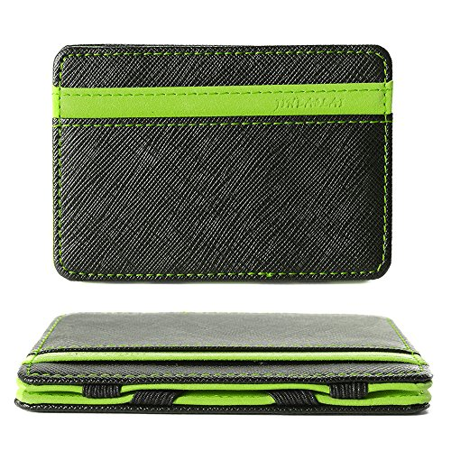 XCSOURCE Portafoglio Magico in simili cuoio - magic wallet Credit Card Holder - porta moneta -Verde
