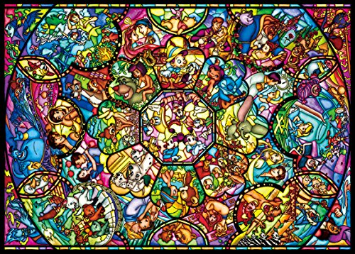 Tenyo Disney All Characters Stained Glass Jigsaw Puzzle (2000 Piece) (Stained Disney Puzzle Glass)