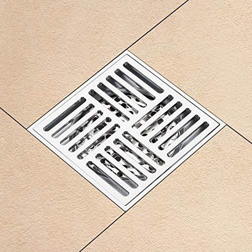 Shuip Waschbecken/Wasserhahnabläufe Edelstahl-Ablaufgarnituren Geruchsneutraler Bodenablauf Dusche Waschbecken Schmutzfänger Bodenablaufabdeckung des Badezimmers