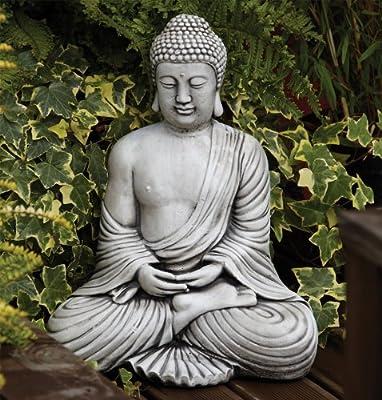 Large Garden Ornaments - Serene Thai Stone Buddha Statue