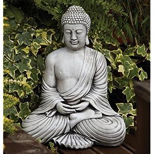 61SIxNMn7XL. SS300  - Statues & Sculptures Online Large Garden Ornaments - Serene Thai Stone Buddha Statue