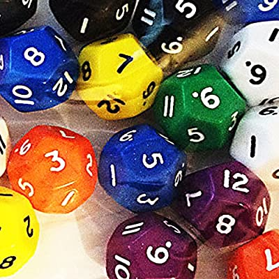 12-sided dice (pack of 12) from Tarquin Publications
