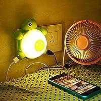 PhilMat LED Control de luz del sensor de sonido tortuga linda luz creativa de la noche