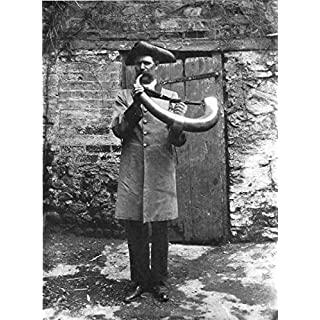 YORKSHIRE. The Horn Blower, Ripon; - 1900 - old antique vintage print - art picture prints of Yorkshire