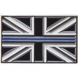 Thin Blue Line Union Jack UK Metal Tie Pin Lapel Badge