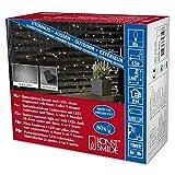 Konstsmide 3727-100 LED Lichternetz / für Außen (IP44) /  Batteriebetrieben: 2xD 1.5V (exkl.) / mit Lichtsensor und 6h u. 9h Timer / 80 warm weiße Dioden / schwarzes Kabel