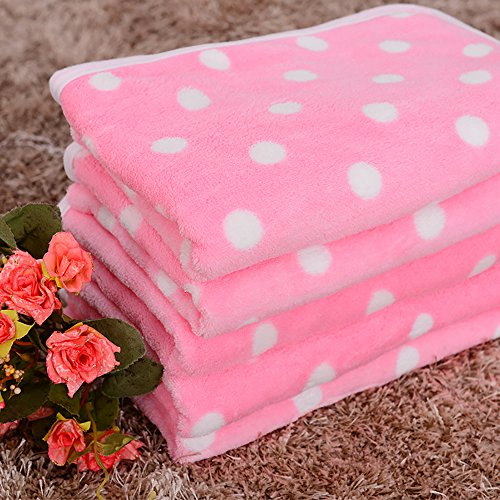 leosi Decke für Welpen Ultra weichem Coral Fleece dünn Cozy Blanket Bett Hundehütte Bezug Hund Puppy Cat Warm Bett Matte Kissen - Fleece-cat Bett