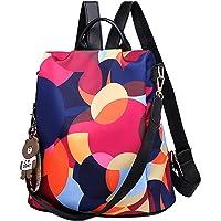 Wishliker Wishliker Damen Anti Diebstahl Rucksack wasserdichte Nylon Schultaschen Tagesrucksack Schultertaschen für…