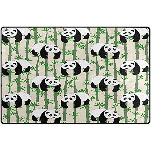 Eoka Indoor Moderne Teppiche Matten Panda mit Bambus Teppichen für Esszimmer Home Schlafzimmer, Teppichboden Matte