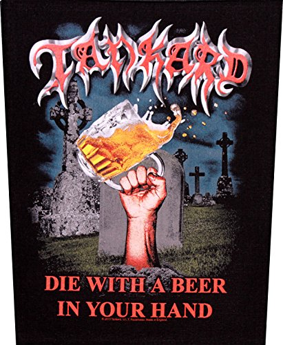 Toppa Tankard, Die with a beer in your hand Back Patch Toppa