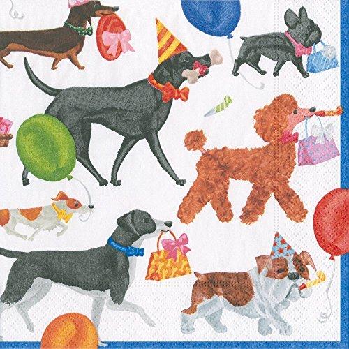 Hund Party Cocktail Servietten Papier Servietten Hund Geburtstag Party Winston 20er-Packung mehrfarbig -
