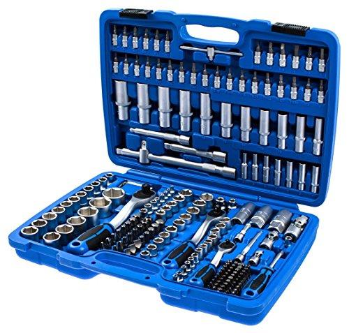 """Preisvergleich Produktbild KFZ Werkzeugkoffer 171-tlg. Ratschenkasten, Steckschlüssel-Satz 1/4"""" + 3/8"""" + 1/2"""""""