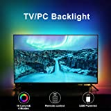 LED TV Backlights, 6.6Ft RGB TV Strip Lights kit with Remote, USB Powered Bias Lighting for 40 Inch-75 Inch TV, PC Monitor an