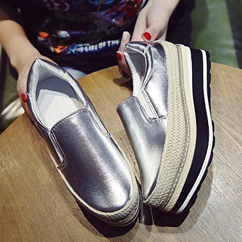 KPHY-La nuova diminuzione di di di spessore singolo femmina scarpe versione coreana di paglia Sisal Pan di Spagna il Lazy ossa scarpe gli studenti sono per aumentare la femmina pattini 37 argentoo B078PBRWVX Parent | Negozio  | Delicato  693a34