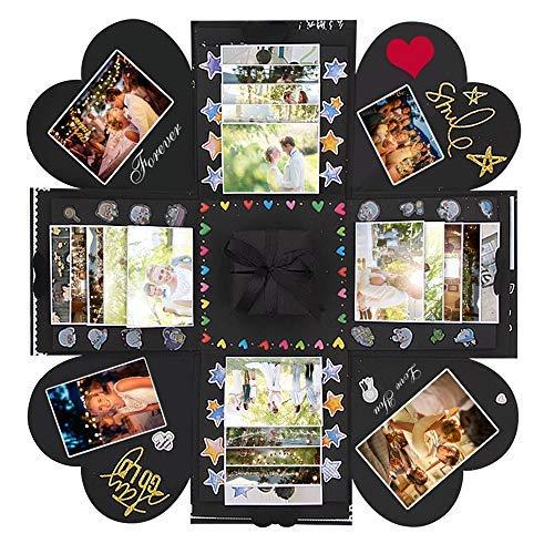 Kreative Überraschung Box, Handgemachtes Explosion Box DIY Fotoalbum Handgemachtes Scrapbook für Christmas,Geburtstag, Jahrestag, Valentinstag, Heiratsantrag, Hochzeit, Muttertag