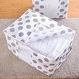 Faltbare Aufbewahrungstasche Kleidung Decke Quilt Schrank Pullover Organizer Boxbeutel Farbe Kleider-Faltbare Box Pouches-Faltbare Aufbewahrungsbox aus Leinen Tragetasche für Bettdecken
