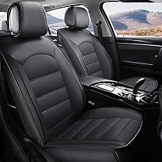 2018 ein neuer Volllederautositzkissen Automobil-Innenschutz des ursprünglichen Autositz, Black, A