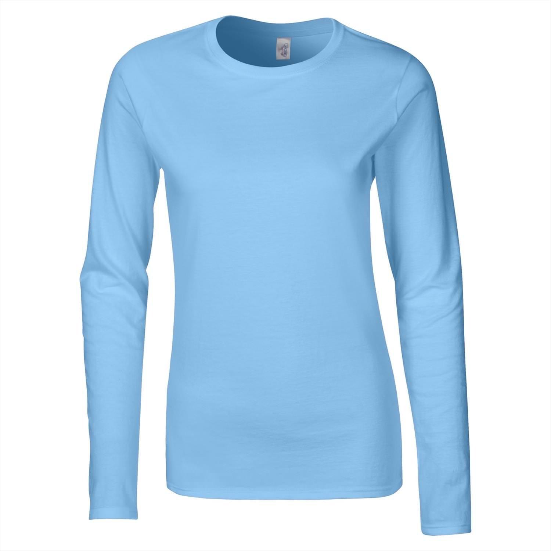 Gildan 64400L Softstyle Womens Ringspun Long Sleeve T-Shirt ...