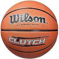 Wilson WTB1434XB Pelota de Baloncesto Clutch Caucho Interior y Exterior, Unisex Adulto, Amarillo neón/Azul, 7