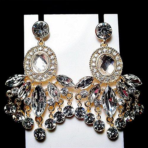 XRQ-Luxus Kristall Ohrringe, Ohrringe, Modenschau, hochwertige Quaste Ohrringe, Ohrringe, Temperament, O