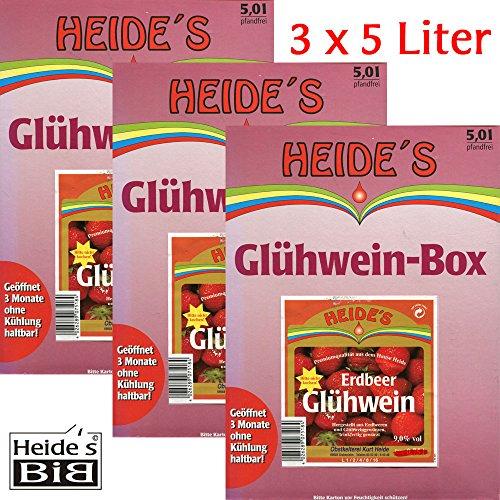 Erdbeer-Glühwein 9,5% Alc. 3er-Pack, 3 x 5 Liter