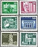 DDR 1868-1869,1947-1948, 1968,2022 (kompl.Ausg.) glatter Druck 1973 Aufbau in der DDR, Rastertiefdruck (Briefmarken für Sammler)