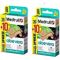 Medrull 60 Stück Wasserfest Pflaster mit Aloe Vera Extrakt 30x2 Packs preisvergleich bei billige-tabletten.eu
